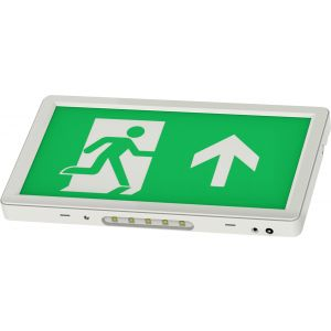 Slimline LED Emergency Exit Sign 3hr Maintained/Non-maintained