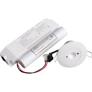Emergency LED Recessed Downlight, Non-Maintained/Self Test