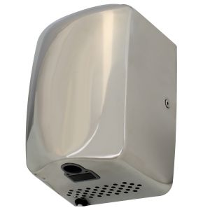 Low Noise Fast Dry Compact Hand Dryers - Polished stainless steel