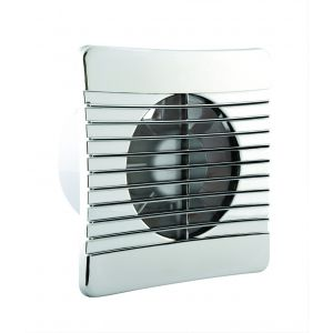 100mm Low Profile Axial Fan and Timer - Chrome Grille