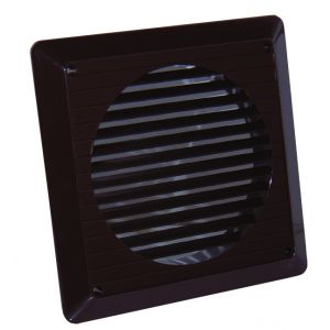 100mm brown external wall grille - Brown