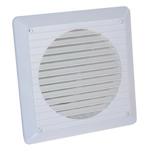 150mm white external wall grille - White