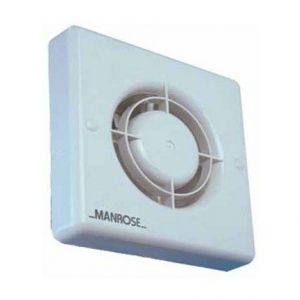 100mm Axial Fans cw Automatic Shutters - Standard fan and pullcord