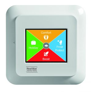 Polar white colour touchscreen thermostat