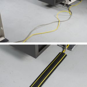 Floor Cable Protector Medium Duty - 9Mtr Black & Yellow