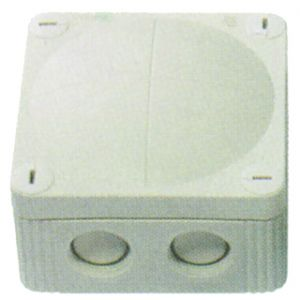 Cable Junction Boxes - Grey junction box c/w terminal 32A 85 x 85 x 51mm