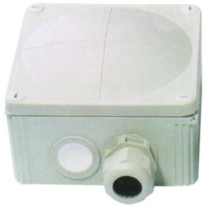 Cable Junction Boxes - Grey junction box c/w terminal 57A 140 x 140 x 66mm