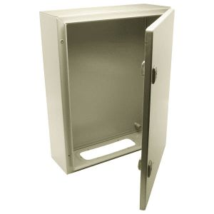 Wall mounted steel enclosure c/w back plate