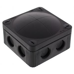 Cable Junction Box - Empty - IP66/67 connector box - black