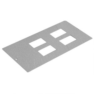 Floorboxes - 4 x RJ45 plate 3 compartment