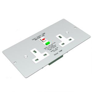 Floorboxes - 2 gang RCD socket 3 compartment