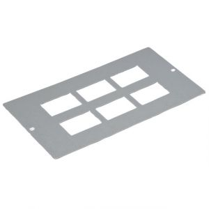 Floorboxes - 6 x RJ45 plate 3 compartment