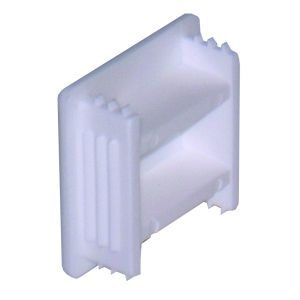 PVC end cap deep white