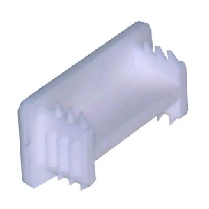 PVC end cap shallow white