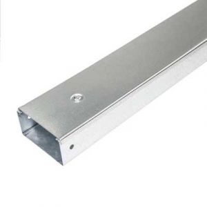 Galvanised Steel Single Compartment Cable Trunking - 100 x 50mm, 3mtr length