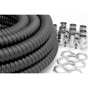 PVC Coated Galv Flexible Conduit Contractor Pack - 20mm