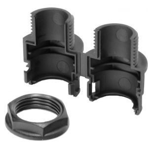 Polypropylene Flexible Conduit Gland - 25mm Black