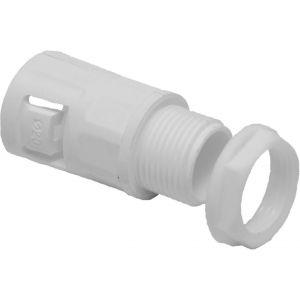 Polypropylene Flexible Conduit Gland - 25mm White