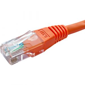 Cat5e UTP patch lead 1.0m orange PVC