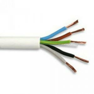 3185TQ - TQ Type Rubber Cable - 1mm Conductor - 50m Drum - White